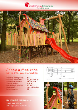 Herná zostava - Janko a Marienka