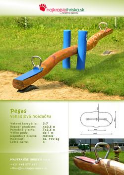 Preklápacia hojdačka - Pegas