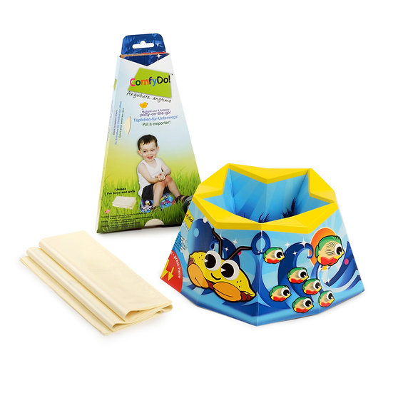 ComfyDo! Foldable Travel Potty - Ocean blue