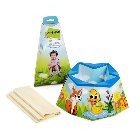 ComfyDo! FoldablTravel Potty - Garden Friends