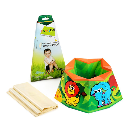 ComfyDo! Foldable Travel potty - Jungle Fun