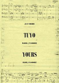 """La Editorial Anacrusa presenta la grabación inédita de """"TUYO"""" (1979), Marcha - Pasodoble de D. Juan Vercher"""