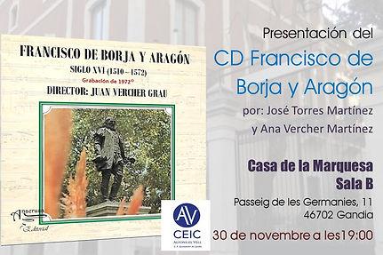 """Presentación del CD """"Francisco de Borja y Aragón"""""""
