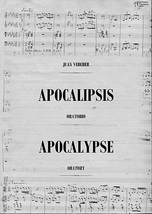 Música Sacra Oratorio Apocalipsis Juan Vercher