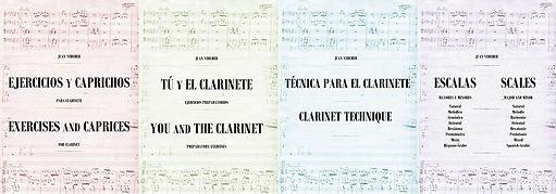 NUEVA EDICIÓN: los métodos de enseñanza de clarinete de Juan Vercher