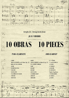 10 OBRAS PARA CLARINETE