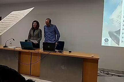 Emotiva participación de los asistentes a la presentación del CD Francisco de Borja y Aragón