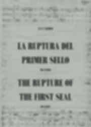 Música Sacra La Ruptura del Primer Sello Juan Vercher Apocalipsis