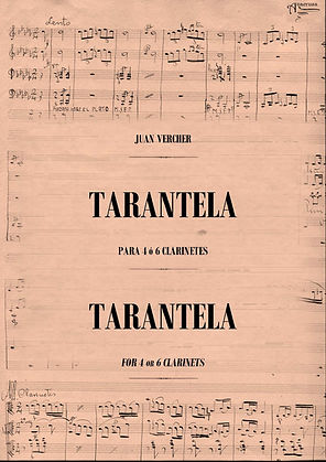 Tarantela para Clarinetes Juan Vercher