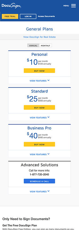 DocuSign General Plan Mobile