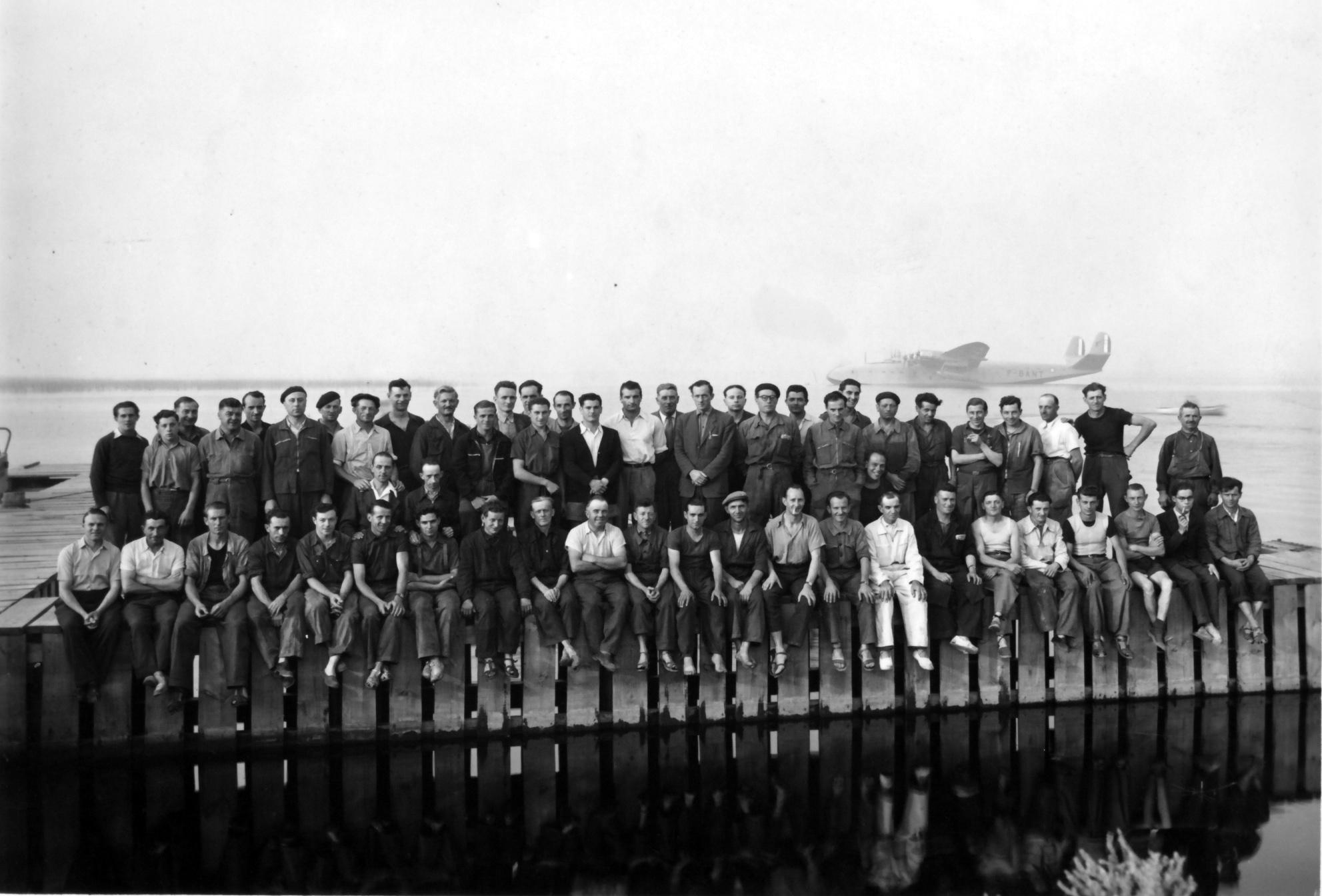 Les ouvriers de l'usine Latécoère