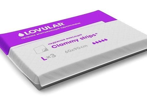 Пеленки одноразовые с клейкими полосками LOVULAR, размер L