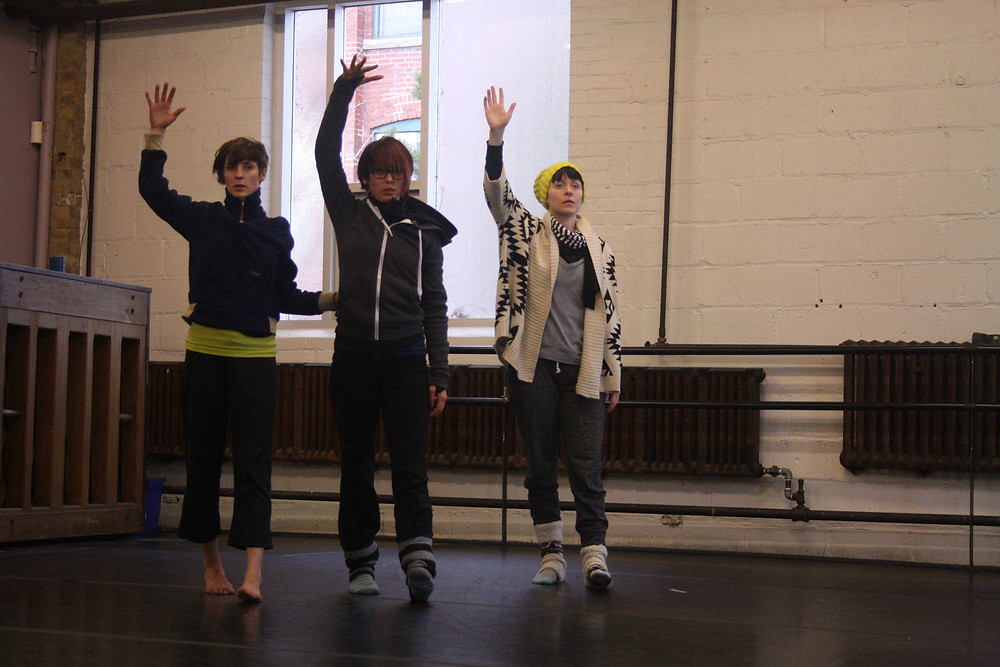 Alison Krause (choreographer) Ainsley Hillyard, Kate Stashko, Alida Nyquist-Schultz (interpreters) GoodWomenDanceCollective Edmonton Alberta