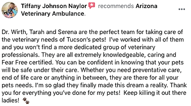 Arizona Veterinary Ambulance Mobile Vet Tucson Review