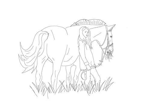 Mädchen mit Pferd | zum Download