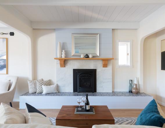 Custom Built Fireplace & Hearth