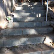 Stone Stairway & Railing Installation #4
