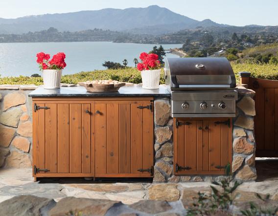 Custom Built Cabinets & Custom Layed Stonework