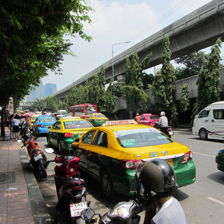 Taxi from Weekend Market.