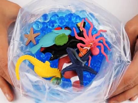DIY Aquarium Sensory Bag Video