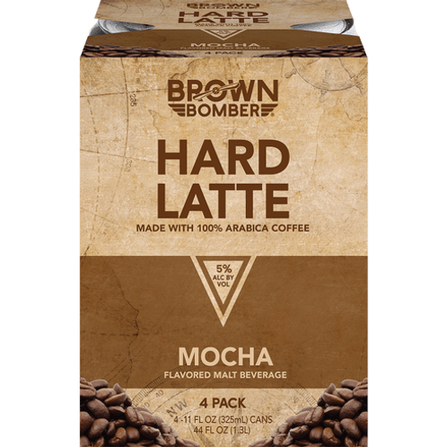 Brown Bomber Hard Latte 4 pack Cans