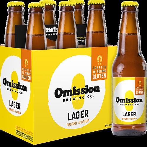 Omission Lager 6 pack bottles