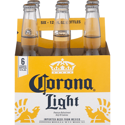 Corona Light 6 pack bottles