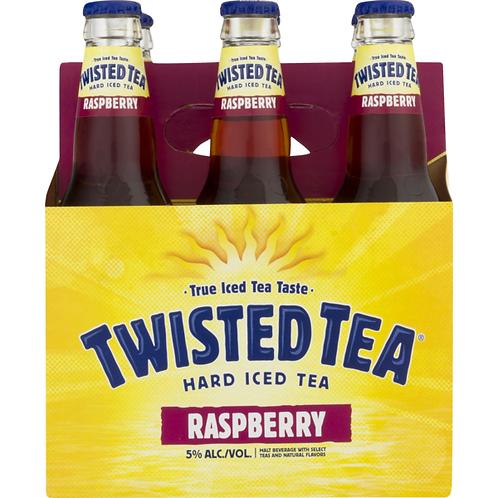 Twisted Tea Raspberry 6 pack bottles