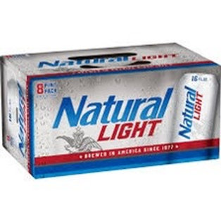 Natural Light 8 pack 16oz cans