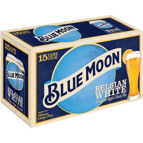 Blue Moon Belgian White 15 pack cans