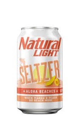 Natural Light Aloha Seltzer 12 pack cans