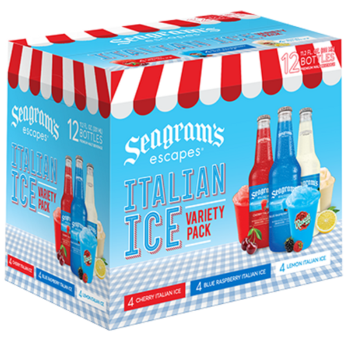 Seagrams Italian Ice Variety 12 pack bottles
