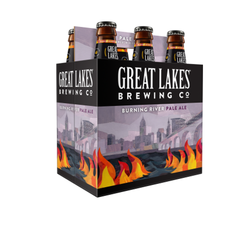 Great Lakes Burning River 6 pack bottles