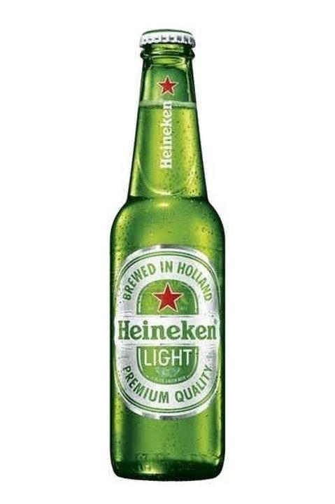 Heineken Light 6 pack bottles