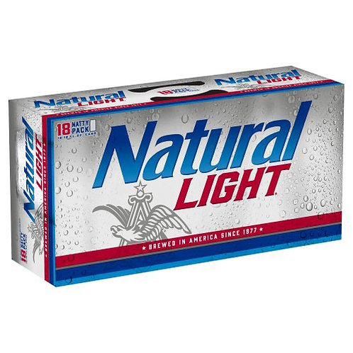 Natural Light 18 pack cans