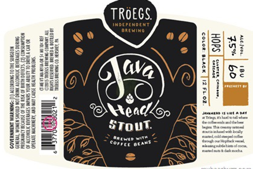 Troegs Java Head Stout 6 pack Bottles