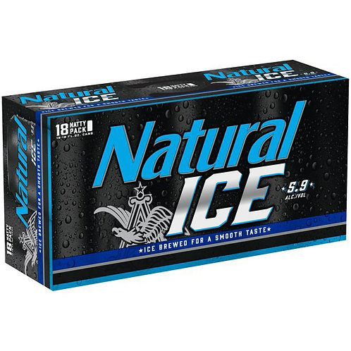 Natural Ice 18 pack cans