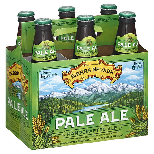 Sierra Nevada Pale Ale 6 pack bottles