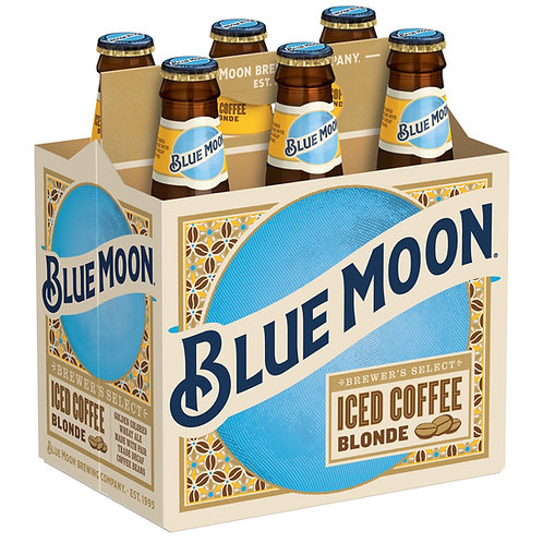 Blue Moon Iced Coffee 6 pack bottles