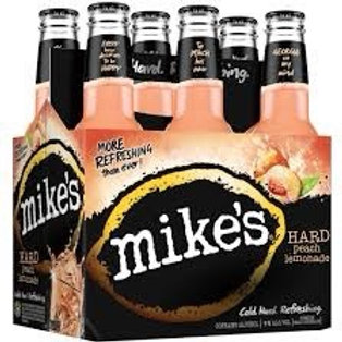 Mikes Peach 6 pack Bottles