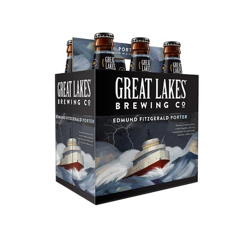 Great Lakes Edmund Fitzgerald Porter 6 pack bottles
