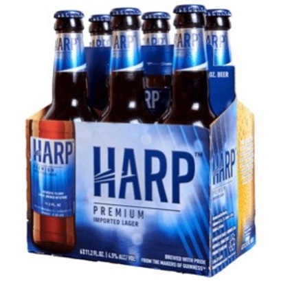 Harp 6 pack bottles