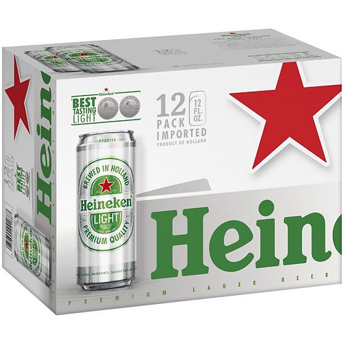 Heineken Light 12 pack cans