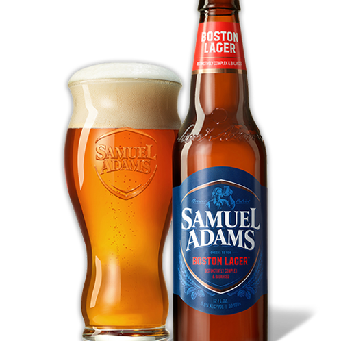 Sam Adams Boston Lager 6 pack bottles