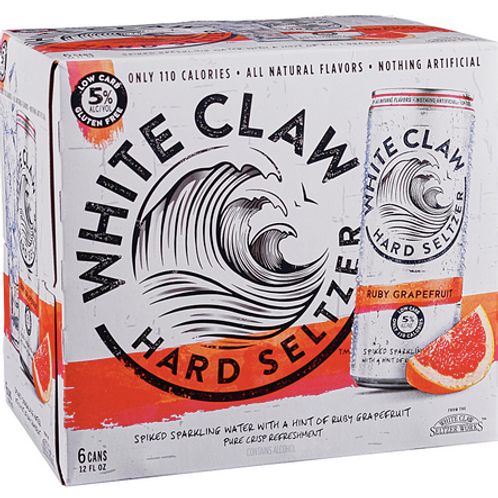 White Claw Grapefruit 6 pack cans