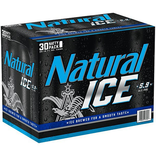 Natural Ice 30 pack cans