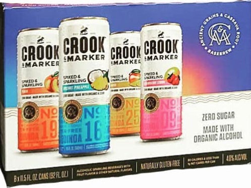 Crooks & Marker Organic Variety 8 pack Cans