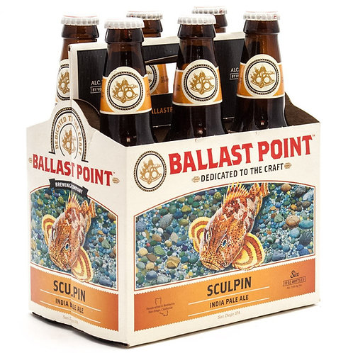 Ballast Point Sculpin IPA 6 Pack Bottles
