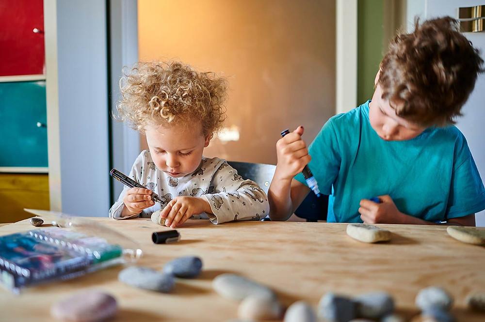 diy Steine bemalen mit Kindern