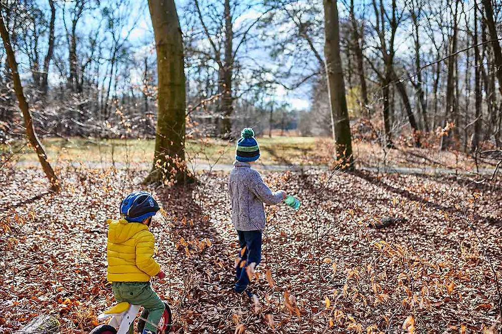Schlosspark Nymphenburg in München Familienausflug